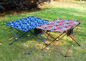 camouflage folding table